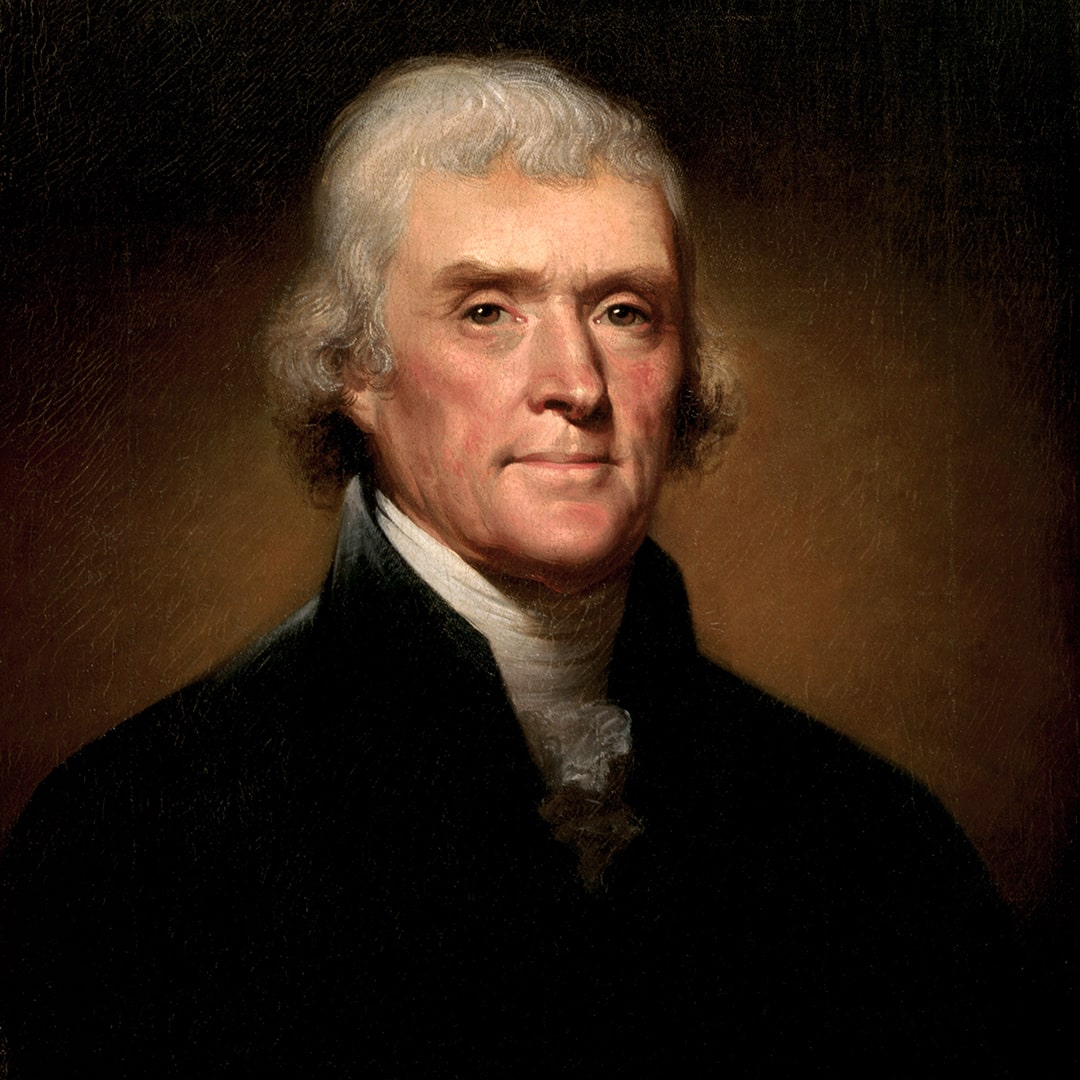 A portrait of Thomas Jefferson